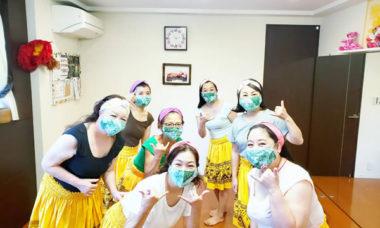手作り夏用マスクと捻りターバン